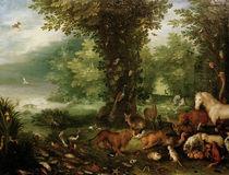 J.Brueghel d.Ae., Paradieslandschaft by AKG  Images