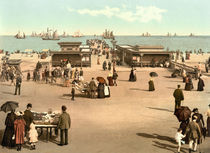 Yarmouth, Strandpromenade / Photochrom von AKG  Images