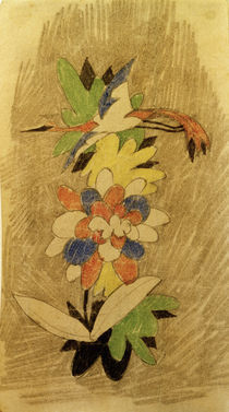 August Macke, Vogel in Blumen, 1914 von AKG  Images