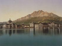 Luzern mit Pilatus / Photochrom um 1900 von AKG  Images