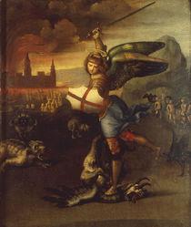 Raffael, Michael im Kampf mit Drachen von AKG  Images