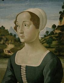 D.Ghirlandaio (?), Bildnis junge Frau von AKG  Images