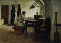 Leo Tolstoj im Schreibzimmer / Repin von AKG  Images