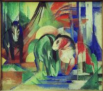 Franz Marc, Drei Pferde an der Traenke by AKG  Images