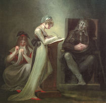 John Milton diktiert... / J.H.Fuessli von AKG  Images