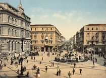 Neapel,Piazza della Borsa / Photochrom by AKG  Images