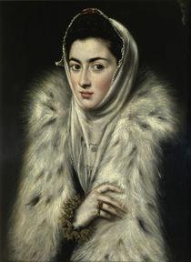 El Greco, Dame mit Pelz von AKG  Images