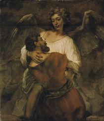 Rembrandt, Jakobs Kampf mit dem Engel von AKG  Images