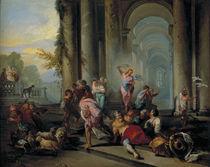G.P.Pannini, Austreibung aus dem Tempel by AKG  Images