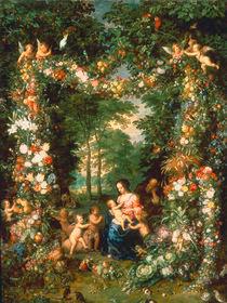 Jan Bruegel d.Ae., Die Heilige Familie by AKG  Images