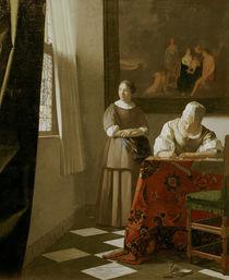 Vermeer, Briefschreiberin und Dienstmagd by AKG  Images