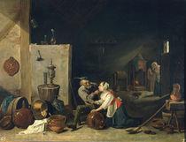D.Teniers d.J., Der Alte und die Magd by AKG  Images