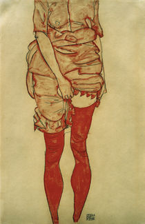 E.Schiele, Stehende Frau in Rot by AKG  Images