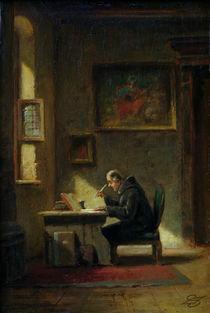 C.Spitzweg, Gelehrter Moench am Schreibt. by AKG  Images