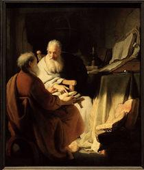 Rembrandt, Zwei alte Maenner im Gespraech by AKG  Images