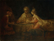 Rembrandt, Ahasver, Haman und Esther von AKG  Images