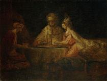 Rembrandt, Ahasver, Haman und Esther by AKG  Images
