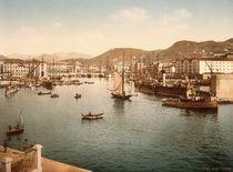 Nizza, Port de Limpia / Foto um 1895 von AKG  Images