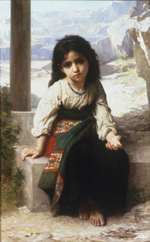 W.A.Bouguereau, Kleine Bettlerin by AKG  Images