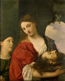 Tizian, Salome mit Haupt Johannes by AKG  Images