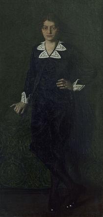 Oskar Zwintscher, Adele Zwintscher 1913 von AKG  Images