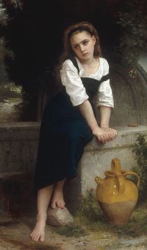 W.A.Bouguereau, Waisenmaedchen am Brunnen von AKG  Images