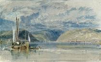 W.Turner, Ruedesheim, Blick auf das ... von AKG  Images