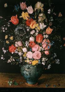 Jan Bruegel d.Ae./ Blumen in blauer Vase von AKG  Images
