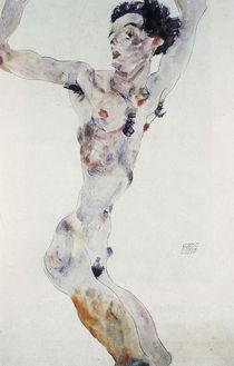 Egon Schiele, Maennl. Akt (Selbstbildnis) von AKG  Images