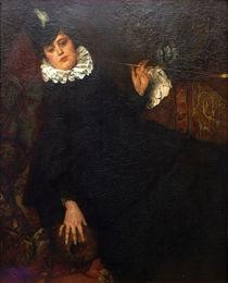 W.Leibl, Junge Pariserin (Die Kokotte) von AKG  Images