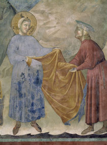 Giotto, Mantelspende des Hl.Franziskus by AKG  Images
