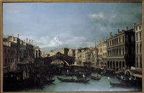 Venice / Rialto Bridge / Canaletto von AKG  Images