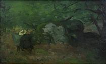 A.Sisley, Der Maler Monet im Wald... von AKG  Images