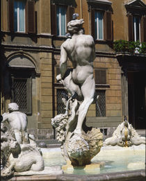 Rom, Fontana del Moro, Teilansicht by AKG  Images
