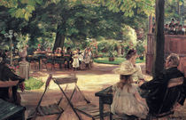 Max Liebermann, Restaurationsgarten von AKG  Images