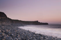 Afterglow at Kilve Beach by Richard Winn