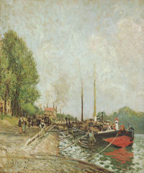 Alfred Sisley, Barke in Billancourt by AKG  Images