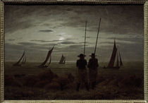 C.D.Friedrich, Mondnacht am Strand by AKG  Images