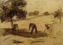 A.Macke, Feldarbeit / Kohlezeichn., 1907 by AKG  Images