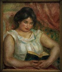 A.Renoir, Gabrielle bei der Lektuere by AKG  Images