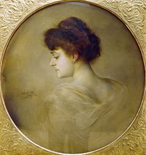 F.v.Lenbach, Frauenbildnis im Profil von AKG  Images
