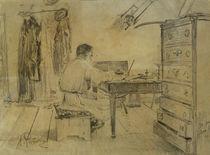 Leo Tolstoj / Zeichnung von Repin von AKG  Images