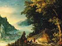 J.Brueghel d.Ae., Weite  Flusslandschaft by AKG  Images