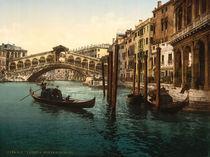 Venedig, Ponte di Rialto / Photchrom von AKG  Images