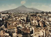 Pompeji, Blick ueber Ausgrabungen / 1900 by AKG  Images