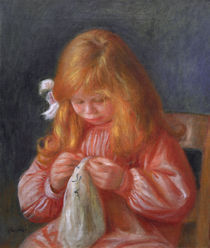 Jean Renoir, naehend/Gemaelde v. A.Renoir by AKG  Images