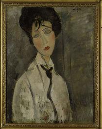 A.Modigliani, Frau mit schwarz.Krawatte von AKG  Images