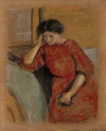 August Macke, Elisabeth im roten Kleid by AKG  Images