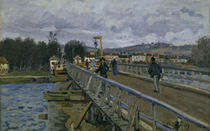 A.Sisley, Fussgaengerbruecke in Argenteuil by AKG  Images