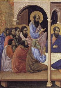 Duccio, Abschied Mariae von Aposteln by AKG  Images